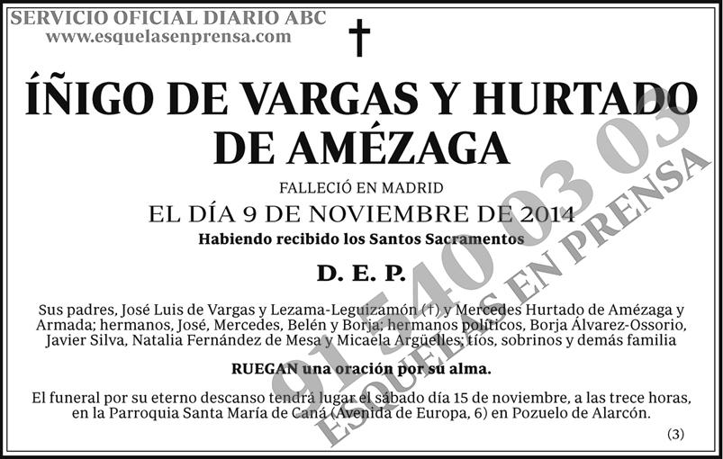 Íñigo de Vargas y Hurtado de Amézaga